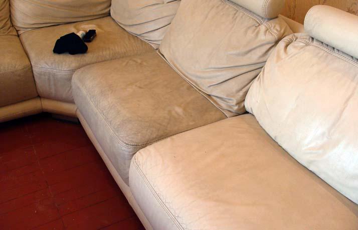 Профессиональная чистка кожаного дивана