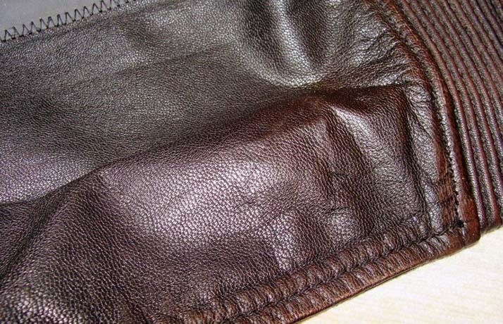 Ремонт порезов на кожаных куртках