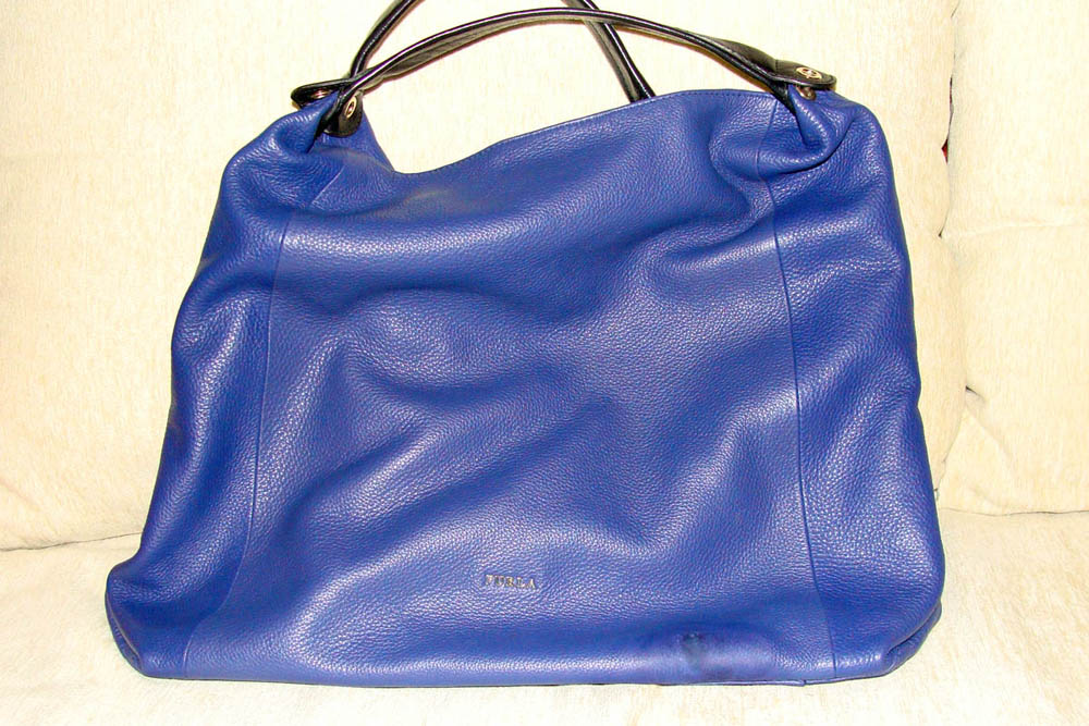 Кожаная сумка Furla - пятно от духов