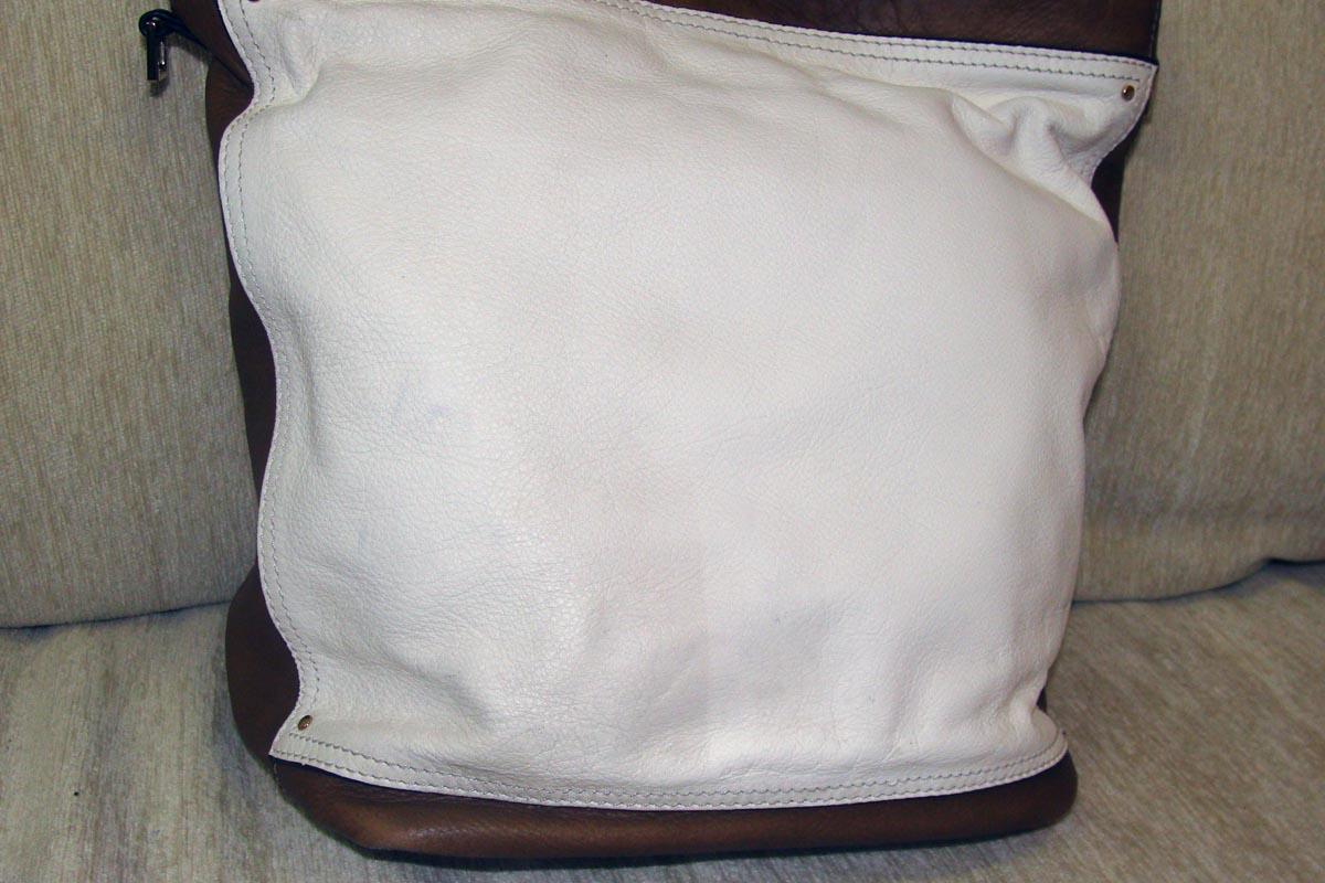 Чистка белой кожаной сумки - результат
