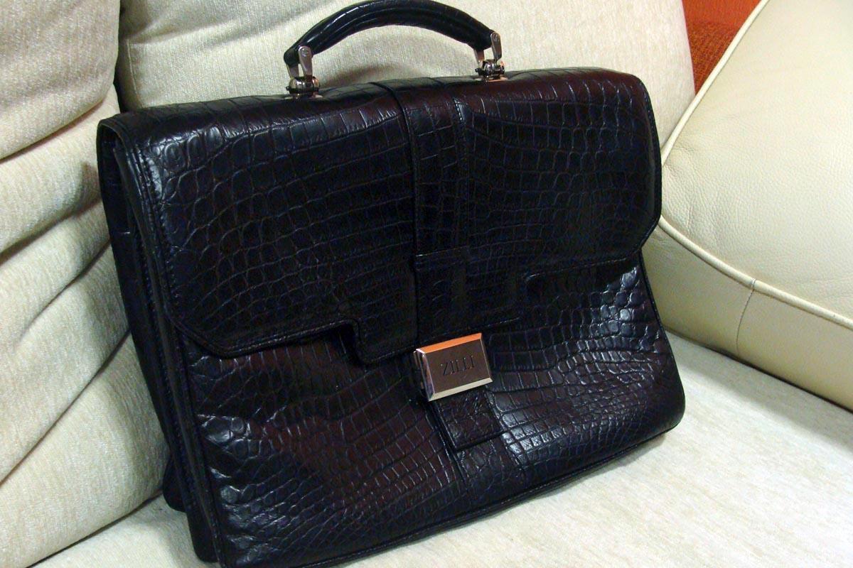 кожаный портфель Zilli - покраска