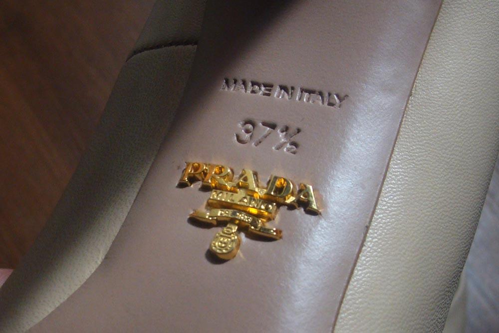Ремонт женских кожаных туфлей Prada